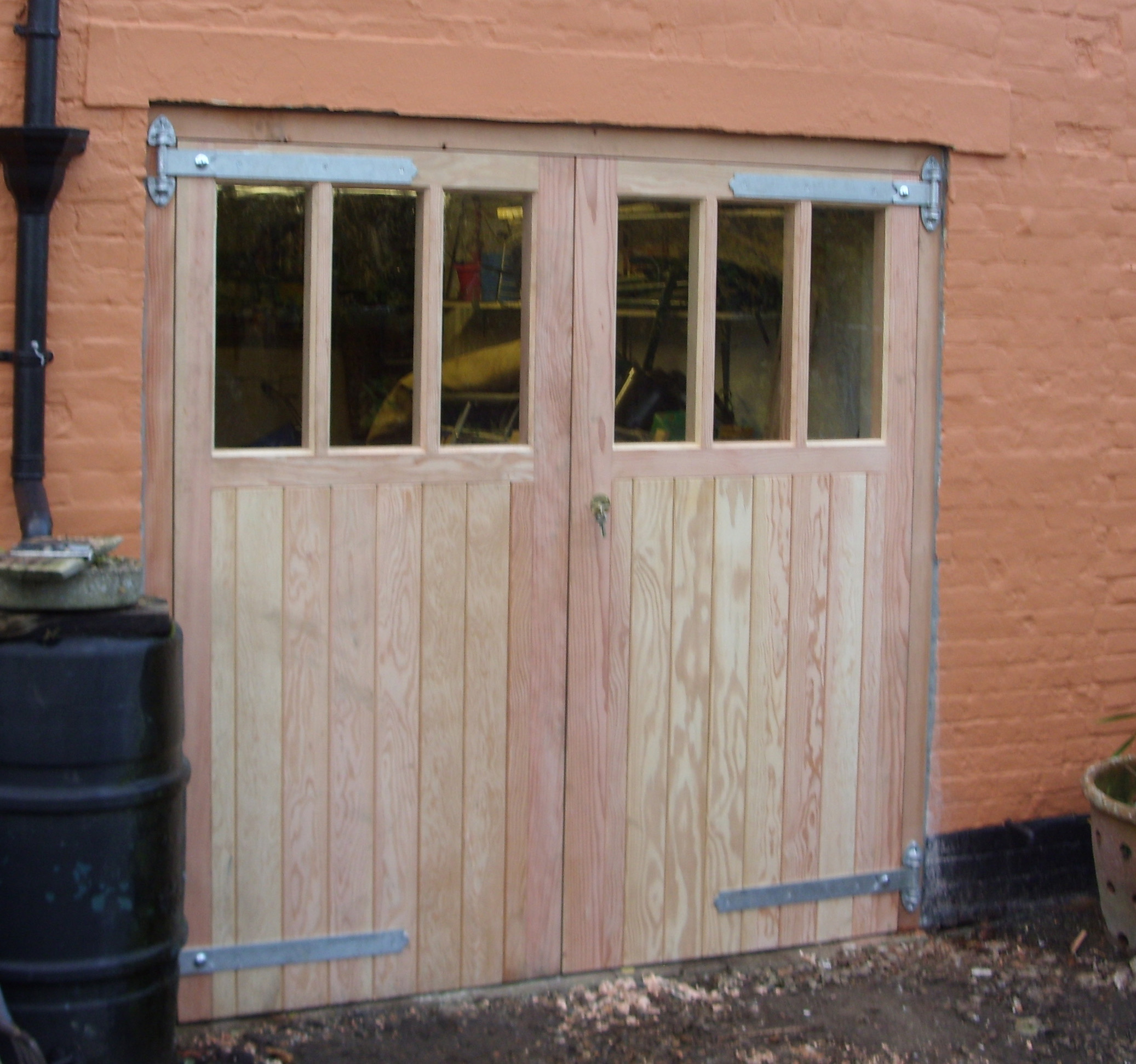 Garage doors with 6 panes